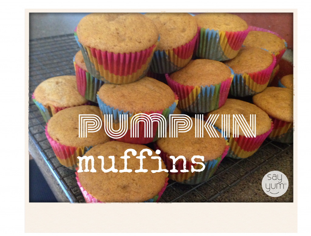 Pumpkin muffins or bread recipe - light and fluffy from sayyum.com