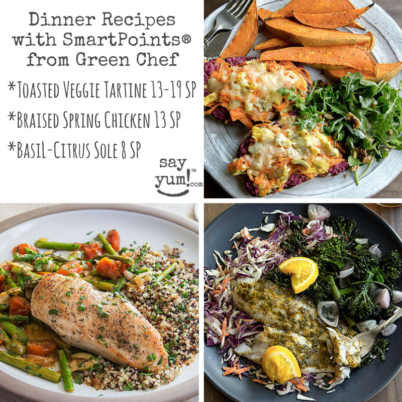 weight watchers smartpoints dinner recipes from green chef