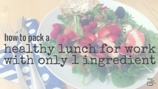 Through crowd sourcing your lunch with co-workers, you can easily pull off a healthy lunch at work with a salad club. Read how easy it is to start one at http://sayyum.com