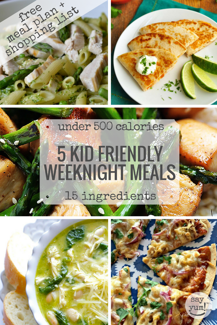 Shopping List For 5 Kid Friendly Easy Spring Weeknight Dinners