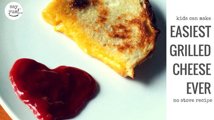 easiest way to make grilled cheese ever