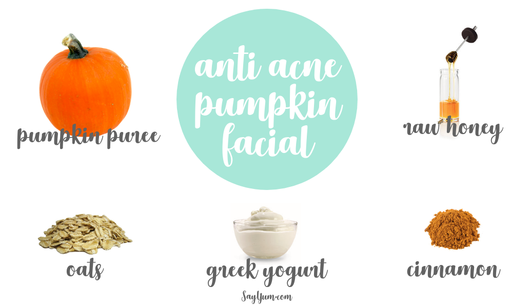 pumpkin facial anti-acne face mask natural beauty ingredients yogurt cinnamon