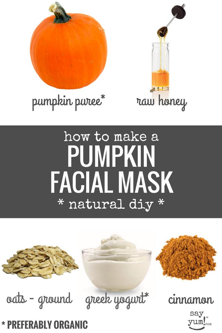 pie on your face: diy moisturizing pumpkin face mask - say yum!™
